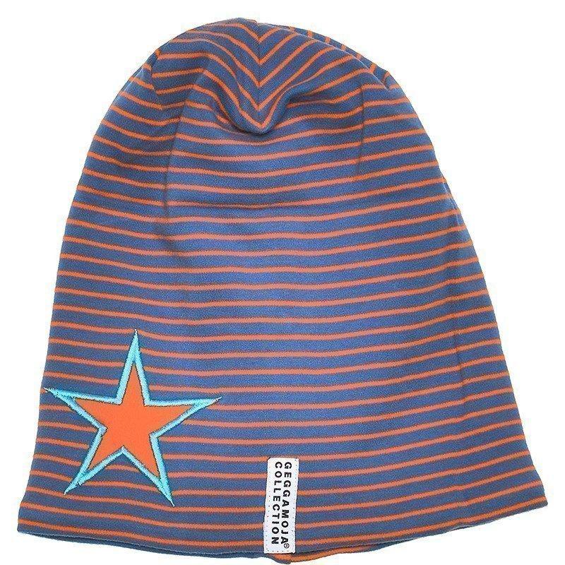 Geggamoja Pipo Star Cap Fleece Deep Blue/Orange AW14 Navy