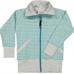 Geggamoja Pusero Zipsweater Harmaameleerattu/Liila Turquoise