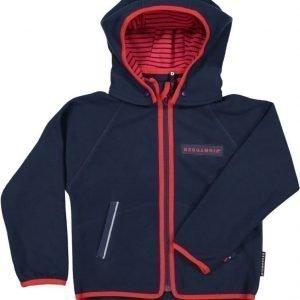 Geggamoja Takki Wind Fleece Jacket Tummansininen Hallonröd