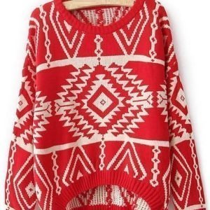Geo punainen villapaita