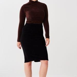 Gina Tricot Agnes Corduroy Skirt Hame Black
