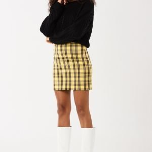 Gina Tricot Agnes Hame Yellow Check 2