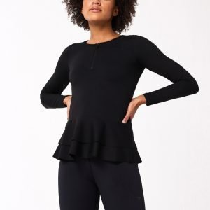 Gina Tricot Aimn Frilled Long Sleeve Top Toppi Black