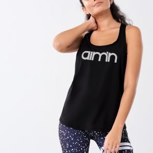 Gina Tricot Aimn Loose Fit Singlet Toppi Black