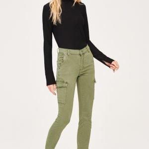 Gina Tricot Alva Cargo Jeans Farkut Safari Green