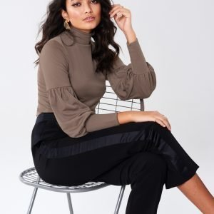 Gina Tricot Anabelle Top Toppi Mocha