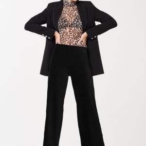 Gina Tricot Astrid Corduroy Trousers Housut Black