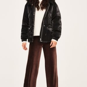 Gina Tricot Astrid Corduroy Trousers Housut Shavedchocolate