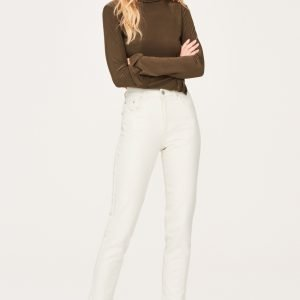 Gina Tricot Bonnie Slim Mom Jeans Farkut Raw White