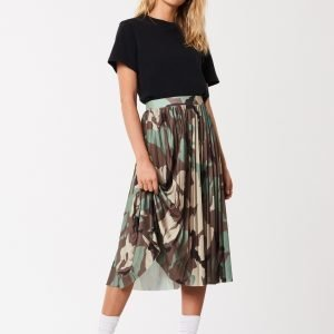 Gina Tricot Camo Pleated Skirt Hame Camo