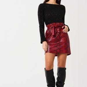 Gina Tricot Cina Paperbag Skirt Hame Snakeprint Aop