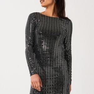 Gina Tricot Clary Glitter Dress Mekko Black Glitter