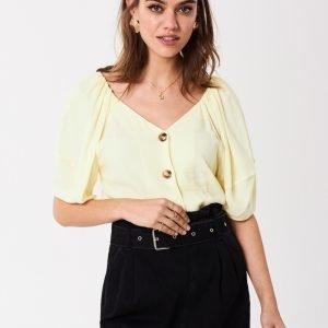 Gina Tricot Corinne Pusero Pastel Yellow
