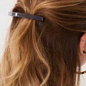 Gina Tricot Ellen Big Glitter Hair Clip Hiusklipsi Black Glitter
