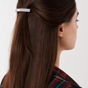 Gina Tricot Ellen Big Glitter Hair Clip Hiusklipsi Silver Glitter