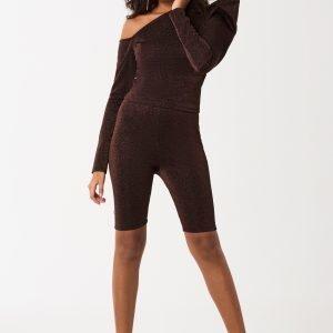 Gina Tricot Erica Biker Shorts Trikooshortsit Brown / Glitter