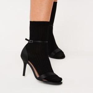 Gina Tricot Erin Rib Socks Sukat Black