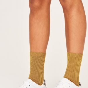 Gina Tricot Erin Rib Socks Sukat Golden Oak