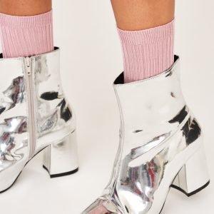 Gina Tricot Erin Rib Socks Sukat Zephyr Pink