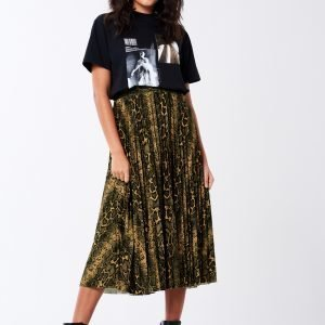 Gina Tricot Eva Pleated Skirt Hame Snakeprint Aop