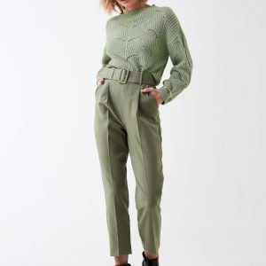 Gina Tricot Fanny Knitted Sweater Neulepusero Desert Sage