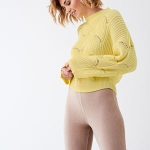 Gina Tricot Fanny Knitted Sweater Neulepusero Mellowyellow