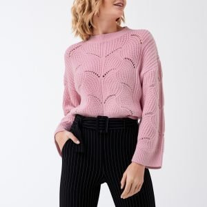 Gina Tricot Fanny Knitted Sweater Neulepusero Prime Pink