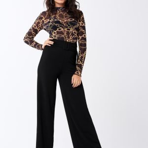 Gina Tricot Flora Belted Trousers Housut Black