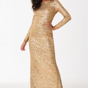 Gina Tricot Frida Sequins Maxi Dress Mekko Gold