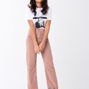 Gina Tricot Gabby Corduroy Trousers Housut Misty Rose