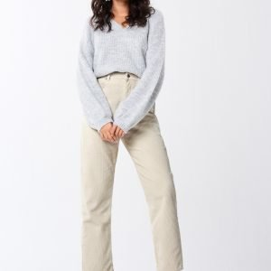 Gina Tricot Gabby Corduroy Trousers Housut White Touch