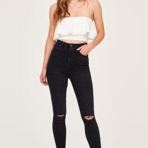 Gina Tricot Gina Curve Jeans Farkut Black / Grey Dest