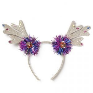 Gina Tricot Gold Reindeer Tinsel Antler Headband Hiuspanta Gold