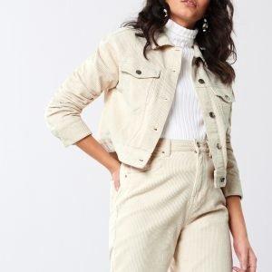 Gina Tricot Hailey Corduroy Jacket Takki White Touch