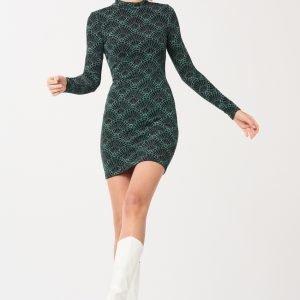 Gina Tricot Halle Bodycon Dress Mekko Green / Lurex