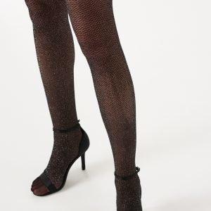 Gina Tricot Hanna Glitter Tights Sukkahousut Black Glitter