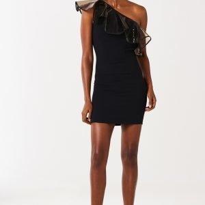 Gina Tricot Hanna One Shoulder Dress Mekko Black