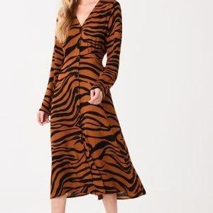 Gina Tricot Hannis Button Down Dress Mekko Tiger / Aop
