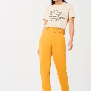 Gina Tricot Hedvig Housut Mineral Yellow