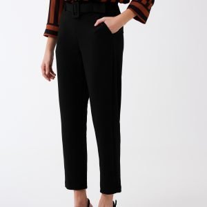 Gina Tricot Hedvig Petite Trousers Housut Black