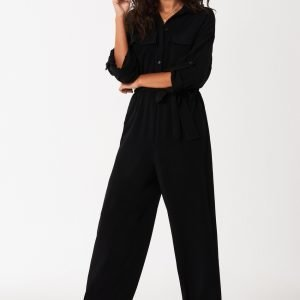 Gina Tricot Hilda Boilersuit Haalari Black