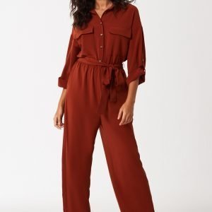 Gina Tricot Hilda Boilersuit Haalari Brown