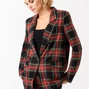 Gina Tricot Hilma Checked Blazer Jakku Red Check