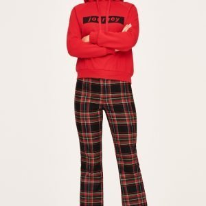 Gina Tricot Hilma Checked Trousers Housut Red Check