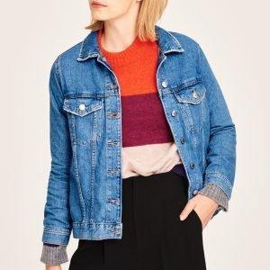 Gina Tricot Ida Denim Jacket Takki Mid Blue