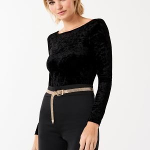 Gina Tricot Ingrid Velvet Body Black