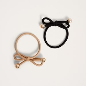 Gina Tricot Irma Hair Band Hiuspanta Black / Camel