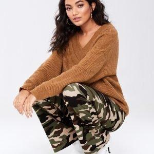Gina Tricot Jillis Flare Trousers Housut Camo