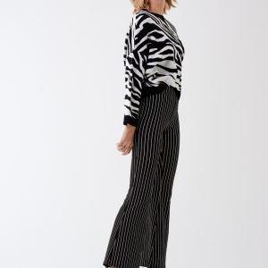 Gina Tricot Jillis Flare Trousers Housut Pinstripe