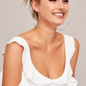 Gina Tricot Kat Frill Body Offwhite